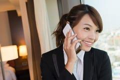 Business woman talk Stock Photography