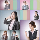 Business woman talk Royalty Free Stock Images