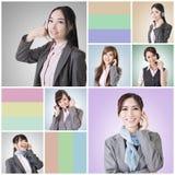 Business woman talk Stock Photo