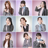 Business woman talk Stock Images