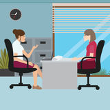 Business woman talk with her boss interview job Royalty Free Stock Images
