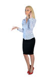 Business woman talk on phone Stock Photography