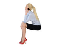Business woman talk phone Royalty Free Stock Images