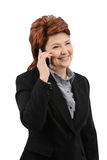 Business woman talk on the phone Royalty Free Stock Photos