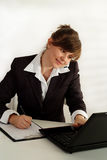 Business woman talking Royalty Free Stock Images