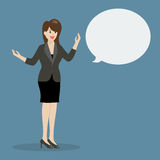 Business woman talking with body language Royalty Free Stock Photos