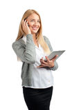 Business woman talking on a cell phone Stock Images