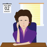 Business woman talking on cellphone. A pretty business lady conversing on cellphone stock illustration