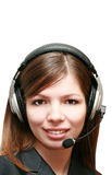 Business woman talking on headset Royalty Free Stock Photo