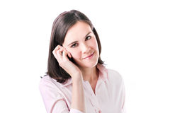 Business woman talking on her mobile phone. Stock Image