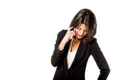 Business woman talking on mobile phone Stock Image