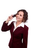 Business Woman Talking On A Mobile Phone Royalty Free Stock Images
