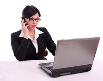 Business woman talking on the phone Stock Images