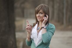 Business woman talking on phone Stock Image