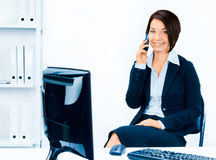 Business woman talking on the phone Royalty Free Stock Photo