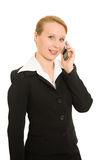 Business woman talking on the phone Royalty Free Stock Photography
