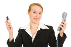 Business woman talking on the phone Royalty Free Stock Images