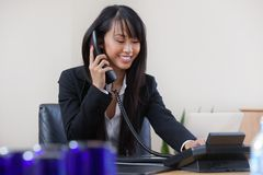 Business Woman Talking on Phone Royalty Free Stock Photography