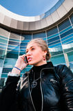 Business woman talking on the phone Stock Photography