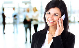 Business woman talking on the phone Royalty Free Stock Image