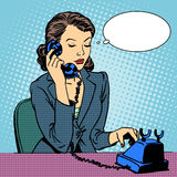 Business woman talking phone Stock Images