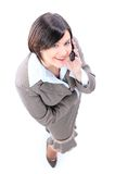 Business woman talking on the phone isolated Stock Photo