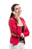 Business woman talking at phone Royalty Free Stock Photography
