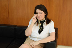Business woman talking on the phone Stock Photos