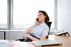 Business Woman Talking on Phone Stock Photography