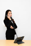 Business woman talking Stock Image