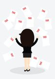 Business woman Tax Concept. Royalty Free Stock Photos