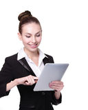 Business Woman or teacher using tablet pc Stock Photography
