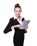 Business Woman or teacher using tablet pc Royalty Free Stock Photos