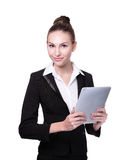 Business Woman or teacher using tablet pc Royalty Free Stock Image