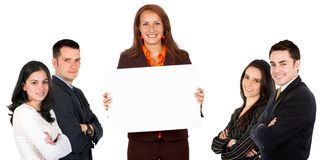 Business woman and team Stock Image