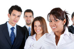 Business woman and team Royalty Free Stock Photography