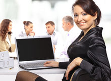 Business woman with team Royalty Free Stock Images