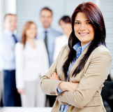 Business woman with a team Royalty Free Stock Photo
