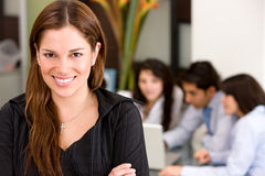 Business woman and team Royalty Free Stock Image