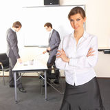Business woman with team mates Royalty Free Stock Photo