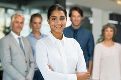 Business woman with team Royalty Free Stock Photos