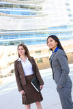 Business Woman Team at Office. Young attractive business women team at office building Stock Images