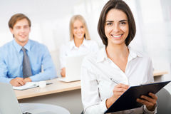 Business woman with team Royalty Free Stock Photography
