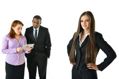 Business Woman and Team. Business women and her team Royalty Free Stock Photography