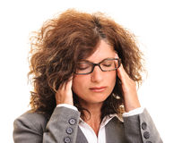 Woman head massage Royalty Free Stock Image