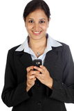 Business woman-Text messaging Royalty Free Stock Photography