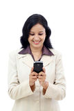 Business woman text messaging Royalty Free Stock Photos