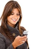 Business woman texting Stock Images