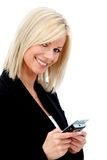 Business woman texting Royalty Free Stock Images