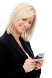 Business woman texting Royalty Free Stock Photo